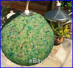Mid Century Rock Candy Resin Swag Lamp Hanging Light Fixture Vintage MCM Lamp