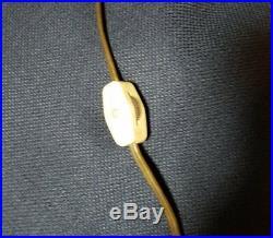 Mid Century VINTAGE 19 Amber GLASS RETRO SWAG HANGING LAMP EUC WORKS RARE