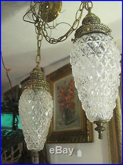 Mid Century Vintage Swag Lamps, Hanging Lights
