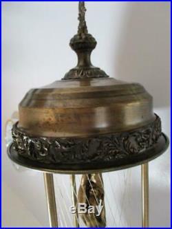 Mid Century Vtg NUDE Goddess RAIN / OIL HANGING / SWAG LAMP 30