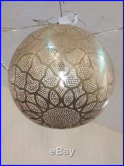 Moroccan Ceiling Brass Chandelier Hanging Lamp Pendant Light Vintage Antique Vtg