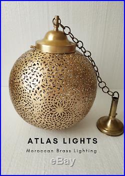 Moroccan Pendant Light Brass Antique Vintage Lamp Hanging Chandelier Ceiling Diy