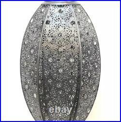 Moroccan Style Lantern Hanging Perforated Lamp Pendant Metal Ceiling Light