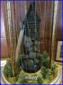 Old Grist Mill Hanging Mineral Oil Rain Lamp Vintage 1970's 30 X 10