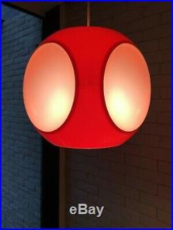 Orange UFO-Vintage Luigi Colani Hanging Lamp-Pop-Art-Space Age