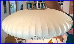 Original Vintage George Nelson Hanging Bubble Pendant Lamp For Howard Miller 18