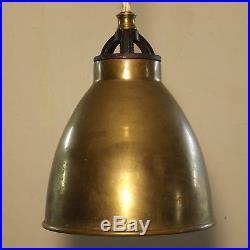 PAIR Vintage Industrial Hanging Pendant Light Lamp Fixture Kitchen Bar Brass