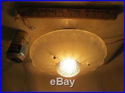 Pair Vintage MID Century Atomic Retro Chandelier Hanging Lamp Nice