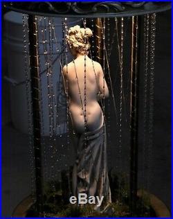 Perfect 1970's Vintage CREATORS INC Hanging Rain Mineral Oil Lamp Greek Goddess