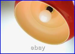 Plastic Fantastic Original Rare 70s MID Century Red Vintage Ceiling Lamp Pendant