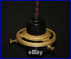 Pulley Hanging light Porcelain pull down lamp rise and fall vintage style GOLD