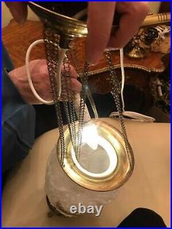 RARE Antique BEAUTIFUL Hanging Chain Lamp