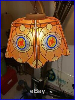 RARE VINTAGE Original CHEVROLET OK USED CAR Plastic Hanging Light Lamp WORKS