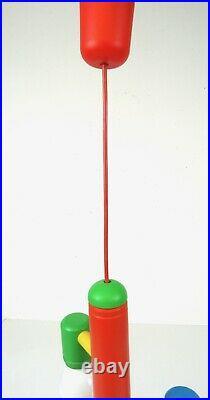 Rare Italian Vintage MID Century Memphis Postmodern Chandelier Ceiling Lamp 80s