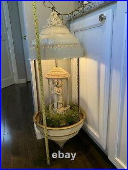 Rare! Rotating People Vintage Hanging Mineral Oil Rain Lamp Untested With Oil
