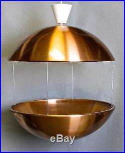 Rare Vintage Rs50 Flower Lamp Poul Cadovius Large Copper Hanging Planter Lamp