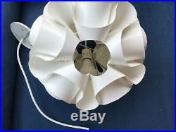 Ron Rezek Vintage Wave Ceiling Lamp, Mid Century Modern, Collectible, Hanging