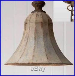 Rustic Vintage Savannah Bell Pendant Lamp Hanging Light Wired Ceiling Fixture