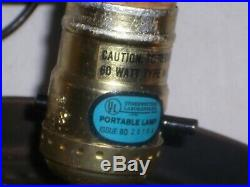 SUPERB paneled amber swag light glass hanging pendant lamp gothic MCM vintage