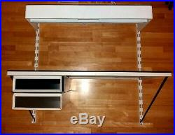 TOMADO/PILASTRO Vintage Retro Desk + 2 Drawers + Hanging desk lamp (S21)