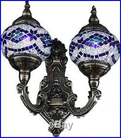 Turkish Mosaic LAMP LIGHTING Vintage HANGING Handmade Moroccan wall LIGHT