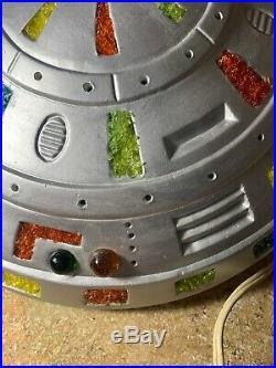 UFO Lamp Hanging Handmade Vintage One Of A Kind Aliens Decor