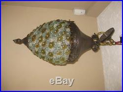 Unique Vintage, antique hanging light lamp ceiling fixture, chandelier, swag