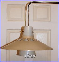 VINTAGE 1960s DANISH MODERN HANGING LIGHT FIXTURE Lamp Ceiling Mod Chandelier