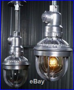VINTAGE 50s BENJAMIN INDUSTRIAL PENDANT hanging explosion proof light barn lamp