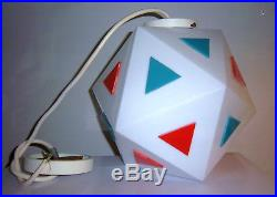 VINTAGE BURGER CHEF GLASS HANGING LIGHT retro lamp mcm space age 60s eames vtg