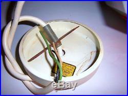 VINTAGE BURGER CHEF GLASS HANGING LIGHT retro lamp mcm space age 60s eames vtg