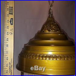 VINTAGE HANGING RAIN SHOWER OIL LAMP OLD GRIST WATER WHEEL Cleaned and Working