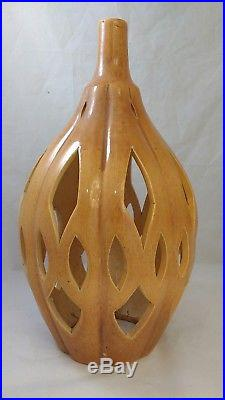 VINTAGE MIDCENTURY MODERN Hanging Swag Lamp Light Ceramic Pottery Pendant Shade