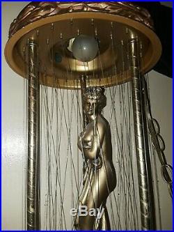 VINTAGE MINERAL OIL RAIN DRIP DROP Hanging LAMP GREEK GODDESS Motion LIGHT 30