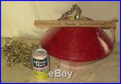 Vintage Retro Era MID Century Ufo Lucite Swag Hanging Lamp