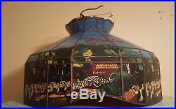 VIntage Budweiser Hanging Advertising Lamp / Light Cydelsdale Horses Bar Light