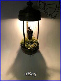 VTG 1970's Hanging 27 Rain Oil Swag Lamp with Goddess Johnson