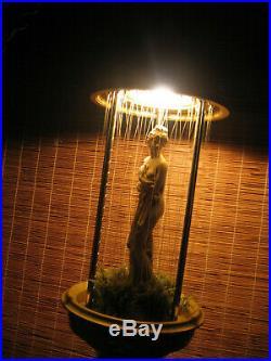 VTG Hanging Mineral Oil Rain Lamp Creators Inc. Nude Greek Goddess VGC Working