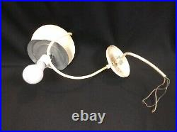 VTG MCM 14 WHITE MILK GLASS GLOBE ORB HANGING CEILING Fixture Light Lamp