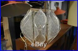 VTG MCM swag hanging light lamp fixture lucite 50's 60's