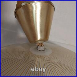 VTG MOE LIGHT Mid Century Modern Atomic Flying Saucer UFO Hanging Ceiling Lamp