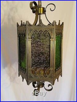 VTG Mid Century Retro Gothic Spanish/Tudor Hanging Swag Light/Lamp