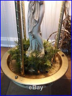 VTG SWAG HANGING RAIN LAMP OIL GREEK GODDESS 31 INCHES CREATORS Inc