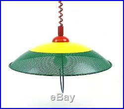 Very Rare Stunning Vintage MID Century Memphis Sottsass Hanging Ceiling Lamp 80s