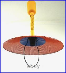 Very Rare Stunning Vintage MID Century Memphis Sottsass Hanging Ceiling Lamp 80s