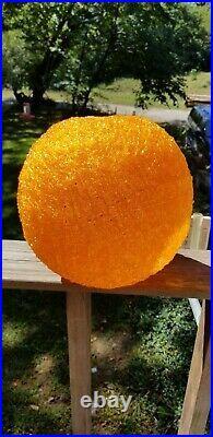 ViNTAGE Orange Mid Century Modern 13 Spaghetti NEW Lucite Hanging Swag Lamp