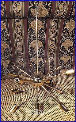 Vintage 1950's SPUTNIK Atomic Hanging LAMP Mid Century LIGHT Amazing ORIGINAL