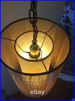Vintage 1950s Mid Century Danish Modern Hanging Pendant Wall Mount Lamp. MCM