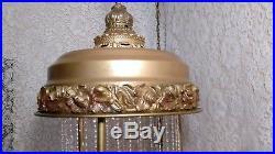 Vintage 1960s Metal Hanging Mineral Oil Rain Lamp With Nude Goddess Venus