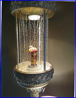 Vintage 1970 Hanging mineral Oil Rain Lamp Completely Cleaned Inside